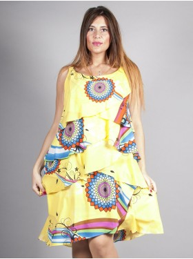 ROBE VOLANT JAUNE LOTUS FIRMINE RICHARD