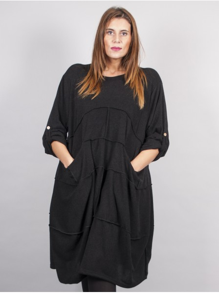 ROBE DESTRUCTUREE NOIR