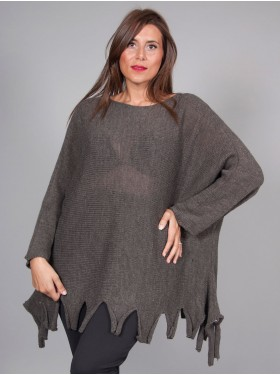 Pull découpe taupe