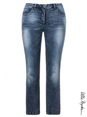 Jean cigarette stretch bleu