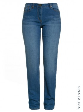 Pantalon stretch bleu