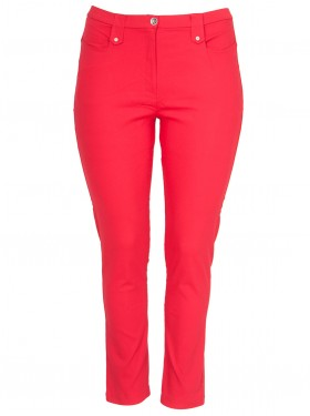 Pantalon slim rouge