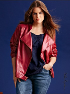 Veste similicuir Bordeaux