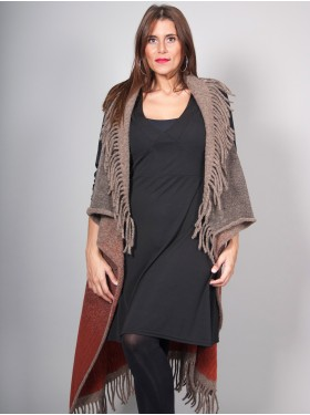 Gilet Long Marron Safran