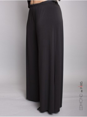 Pantalon Large Basic Noir