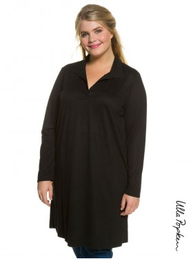 Robe col chemise noire