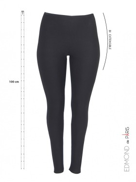 Pantalon Slim Basic Noir