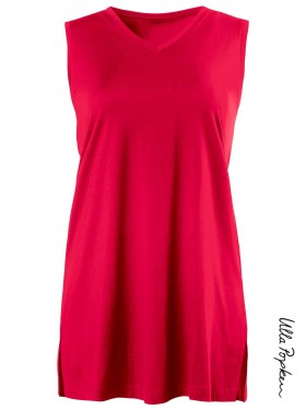 Top coton Ulla Popken rouge