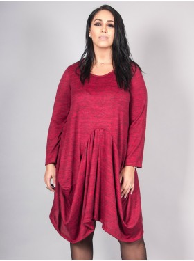 Robe Tunique Trapeze Bordeaux