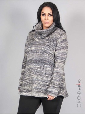 Pull Col gris