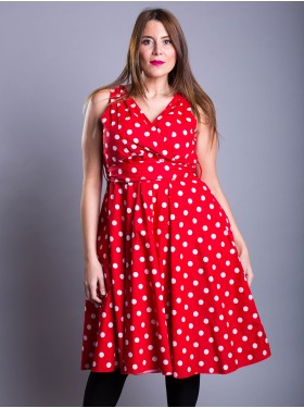 Robe Pin Up Pois Rouge