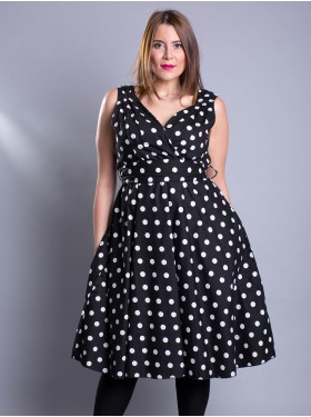 Robe Pin Up Pois Noir