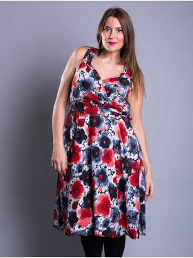 Robe Pin Up Floral Rouge