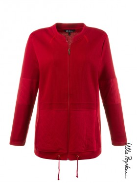 Veste en sweat Ulla Popken rouge