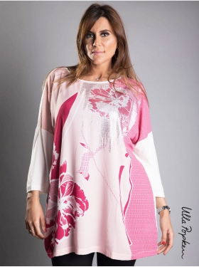 Tunique oversize Ulla Popken rose