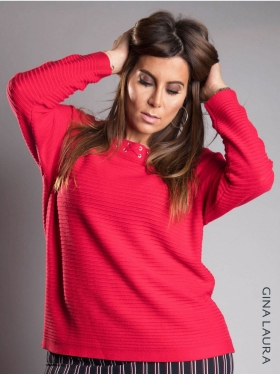 Pull Gina Laura rouge