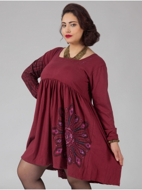 Robe Motif Bordeaux