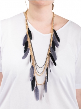 Collier Chaine Plumes