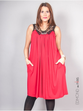 Robe Edmond Boublil Rouge