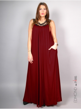 Robe Edmond Boublil Bordeaux