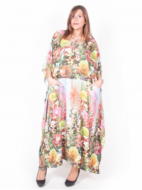 Robe D'interieur Floral Multi