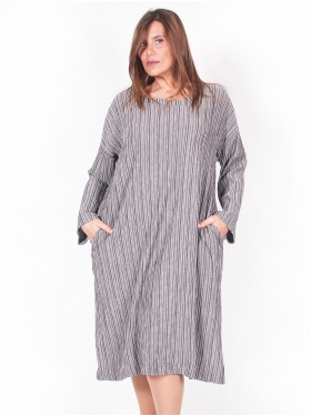 Robe Rayures Gris