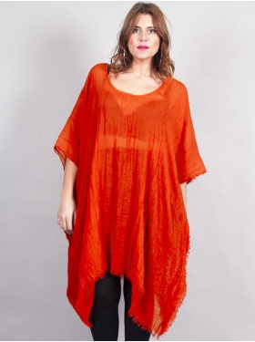 Tunique longue orange