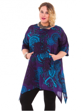 Tunique Motif violet