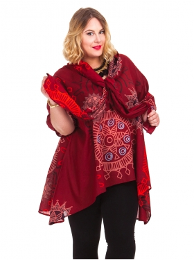Tunique Motif mandala bordeaux