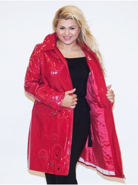 Manteau Ciré Rouge