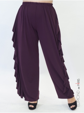 Pantalon Volants Bordeaux