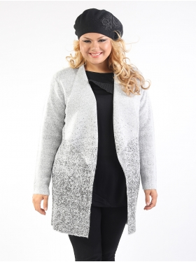 Gilet strass gris