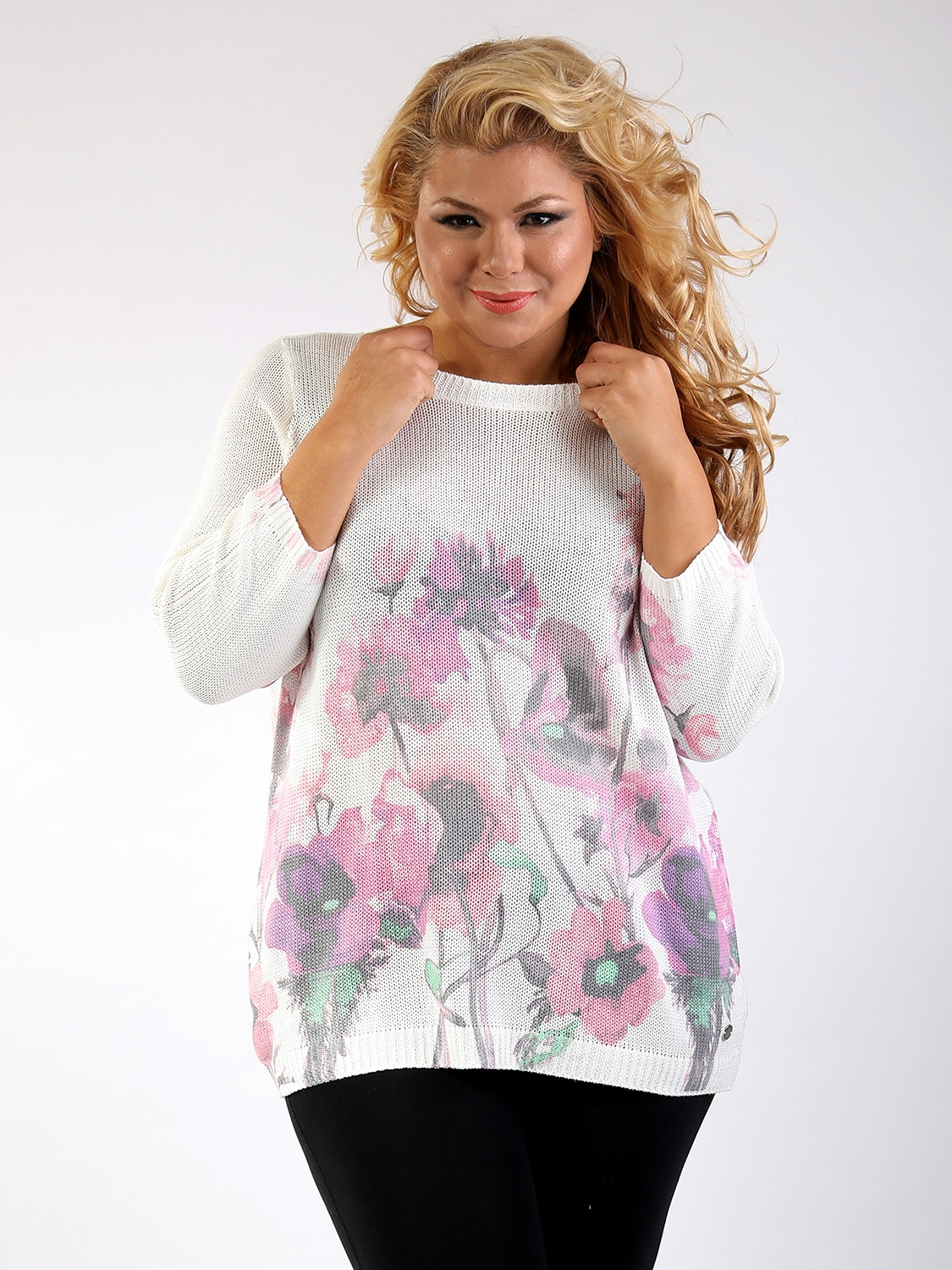 Pull floral Gina Laura