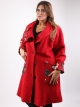 Manteau laine rouge