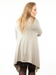 Gilet long taupe