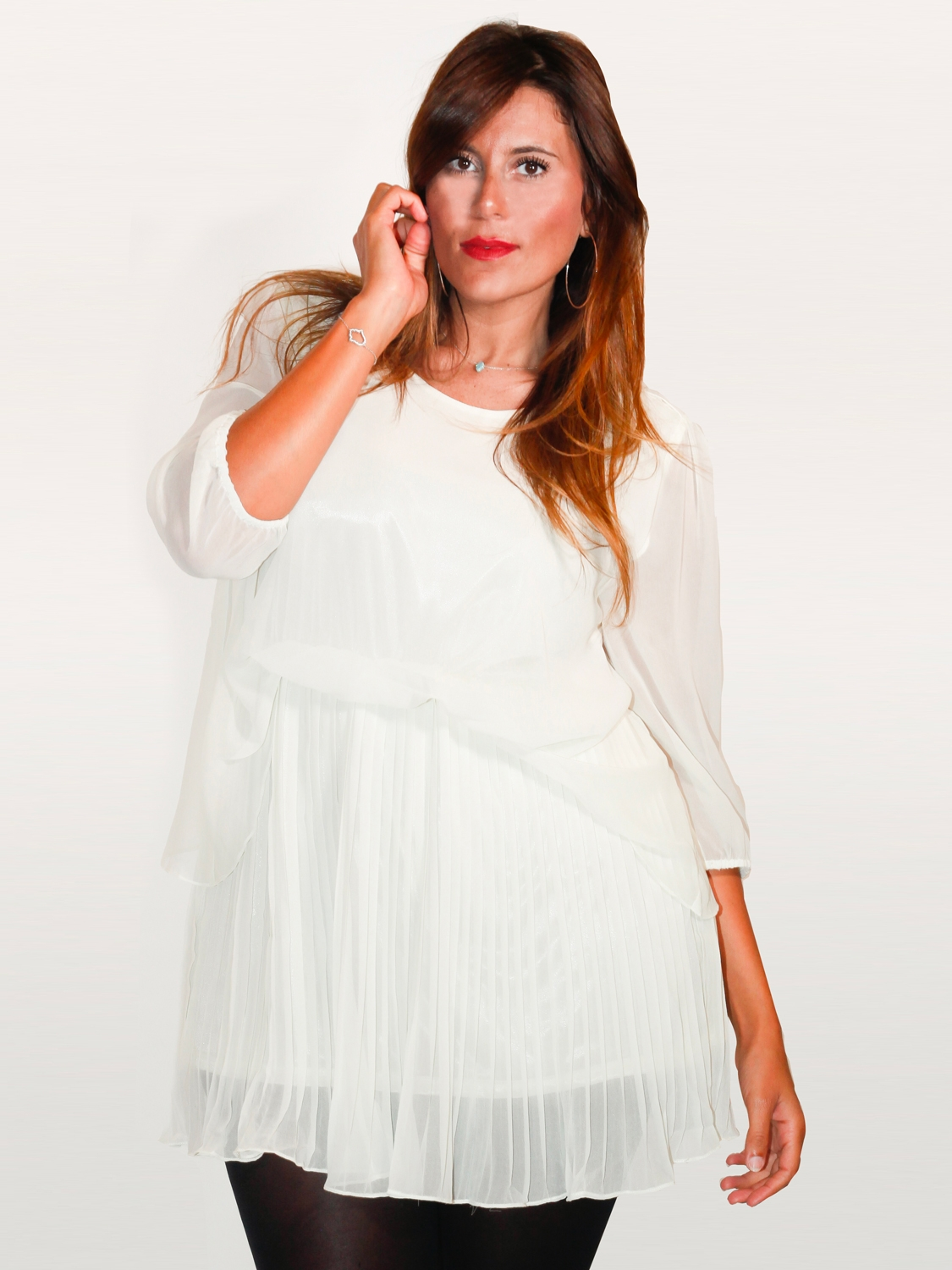 Robe mousseline blanche