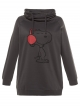 Sweat gris Ulla Popken Snoopy