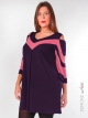 Robe tunique E. Boublil violette, rose