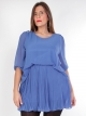 Robe tunique mousseline bleue