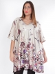 Robe tunique Zizzi beige florale
