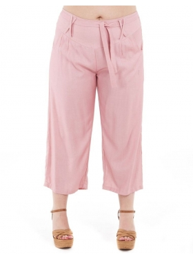 Pantalon rose, uni