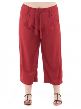Pantalon uni bordeaux