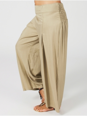 Pantalon large sable