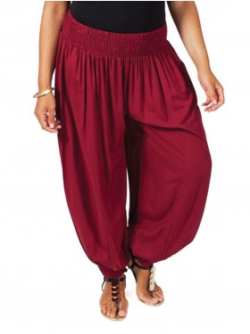 Pantalon Sarouel bordeaux