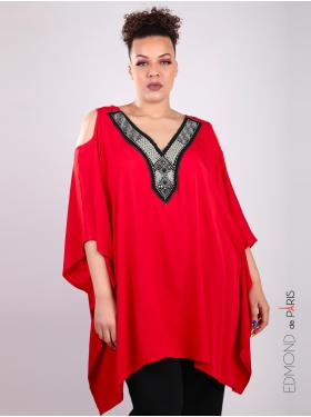 Tunique rouge E. Boublil oversize