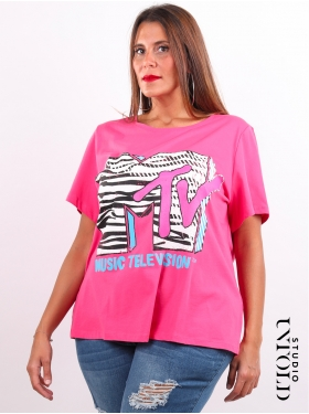 T-shirt MTV rose Studio Untold