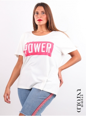 T-shirt blanc Power Studio Untold