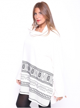 Sweat-shirt Ulla Popken blanc