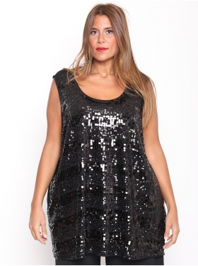 T-shirt Sequin Noir