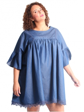 Tunique denim oversize